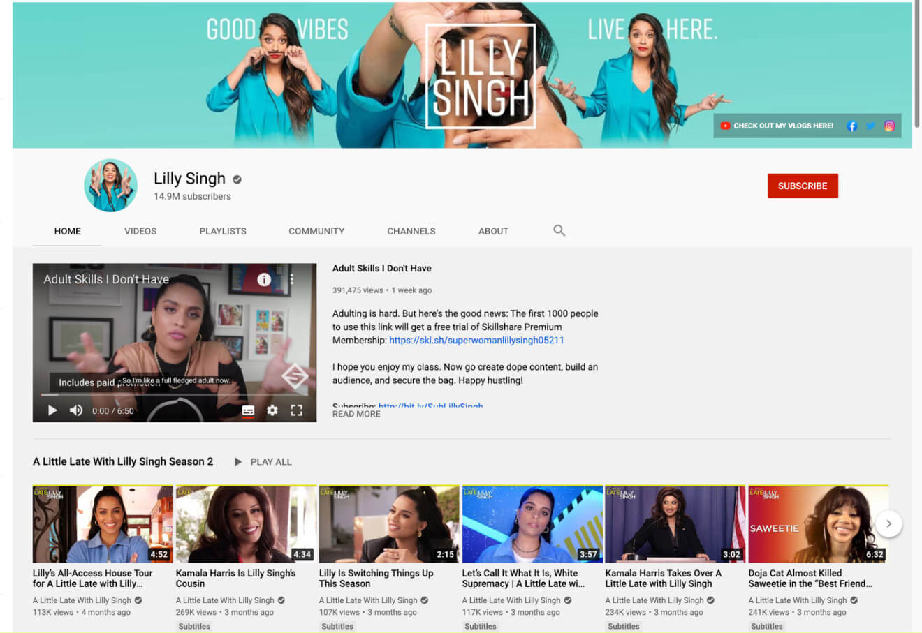 lilly singh content creator