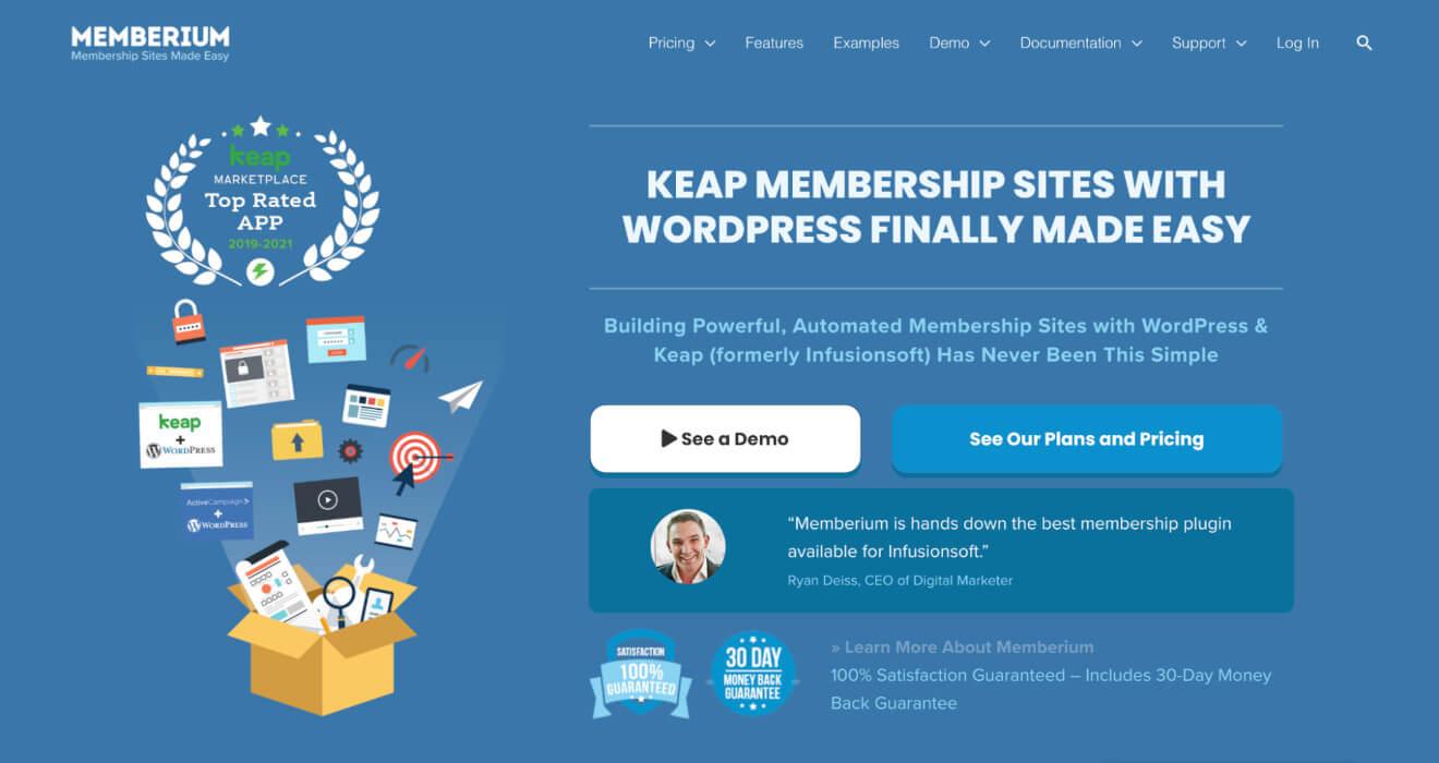 memberium membership plugin