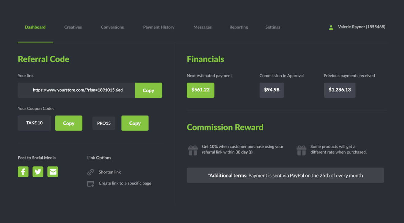 referral page refersion