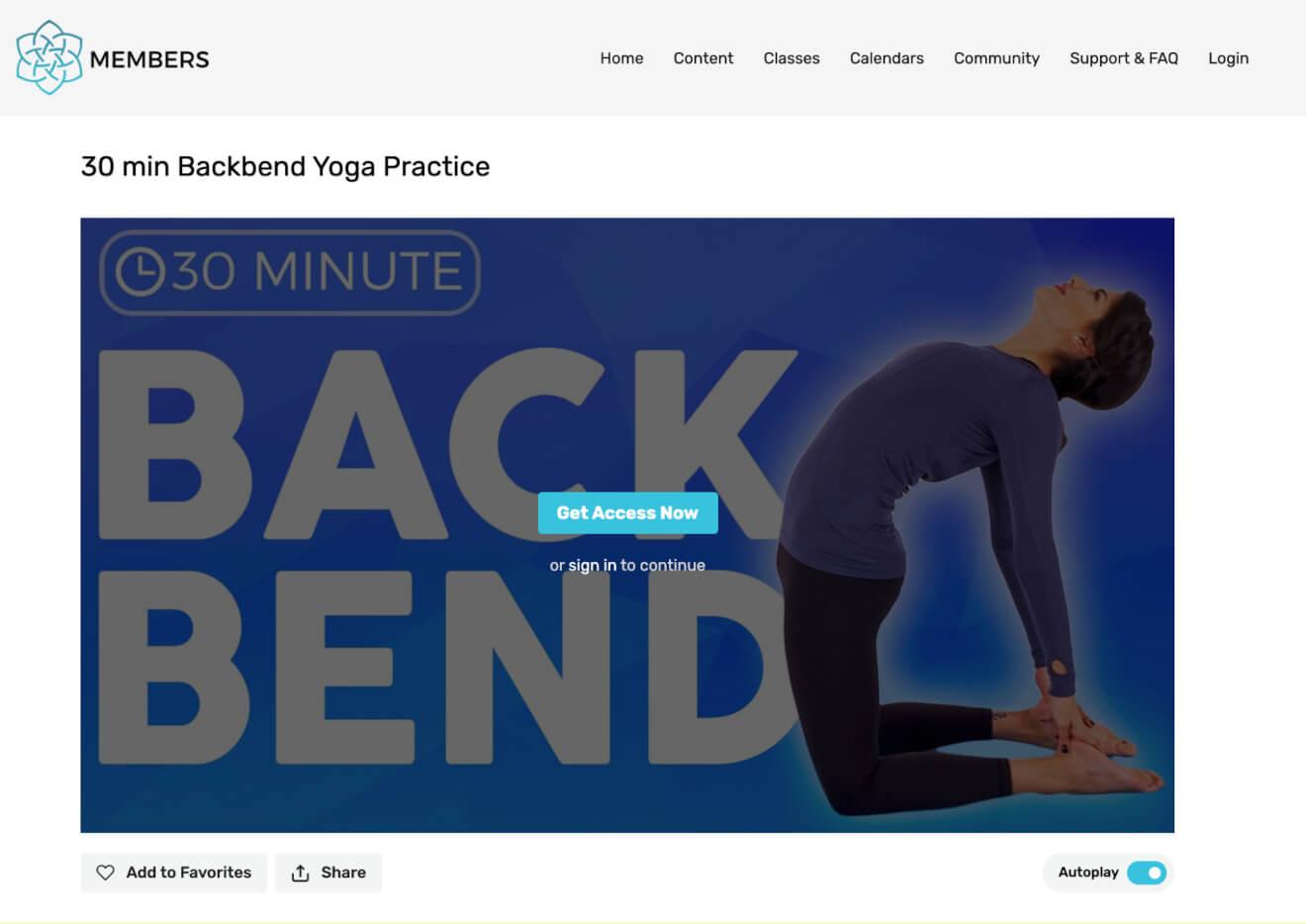 online fitness class duration
