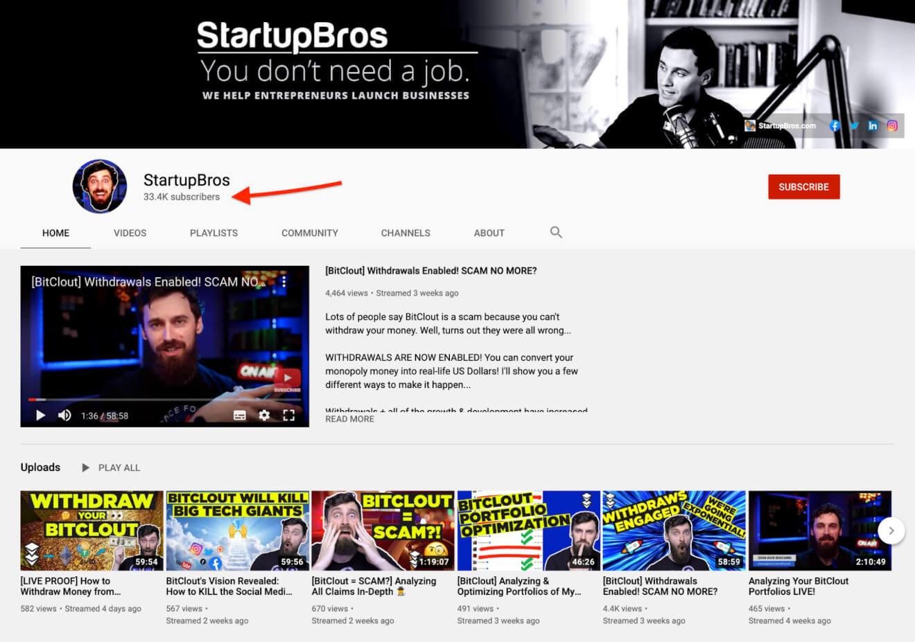 startupbros youtube videos