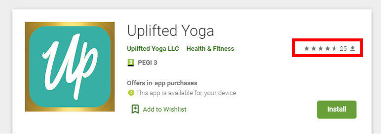 uplifted yoga app store review