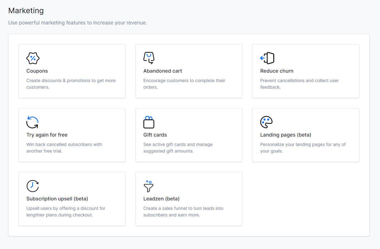 uscreen marketing tools dashboard