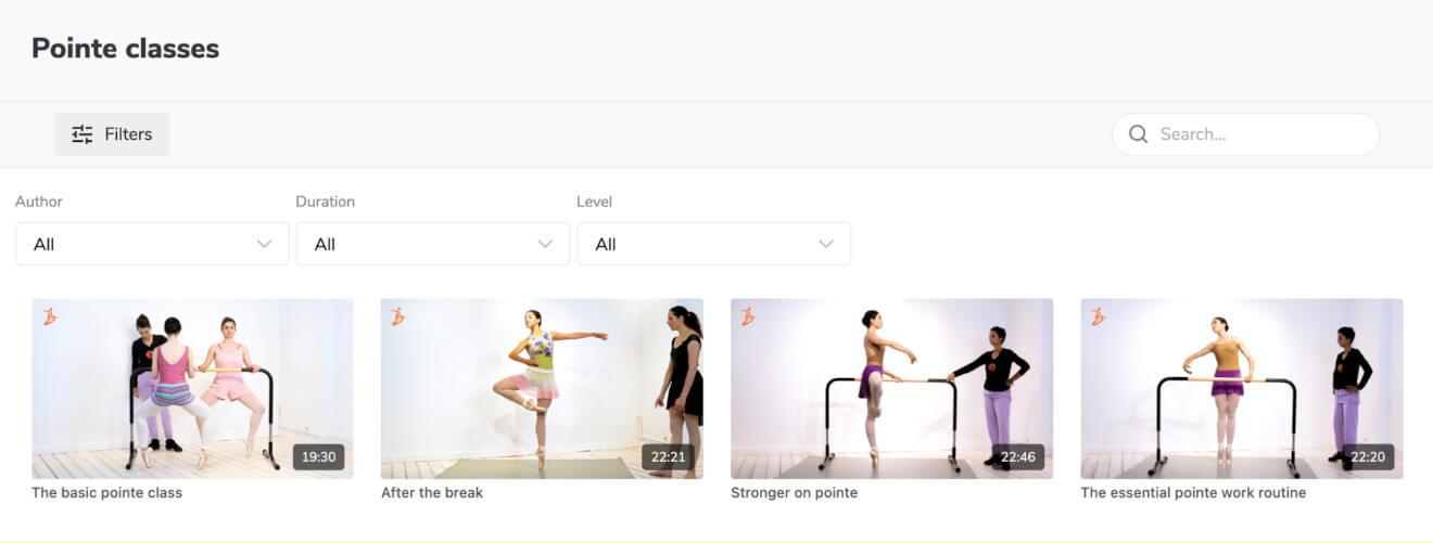 core de ballet collections