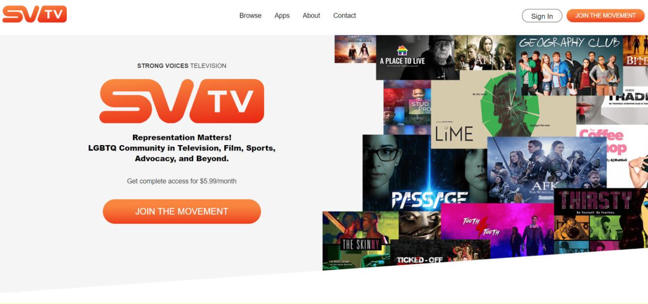 svtv lgbtq+ svod streaming service