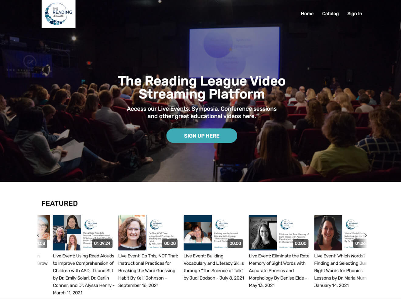 reading league featured videos