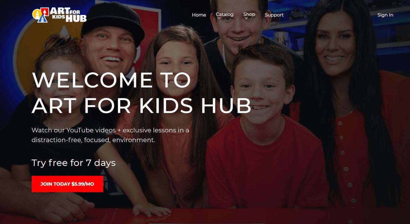 art for kids hub elearning video monetization