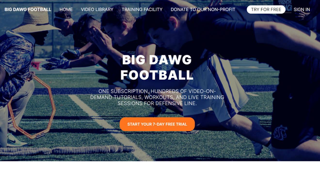 big dawg football svod service