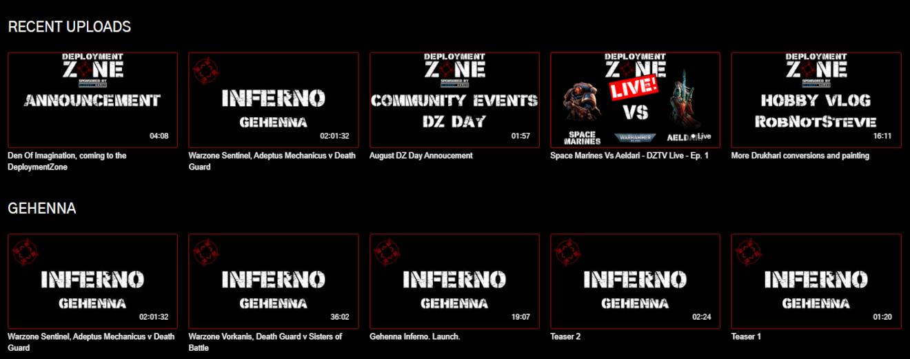 deployment zone tv warhammer 40k streaming service