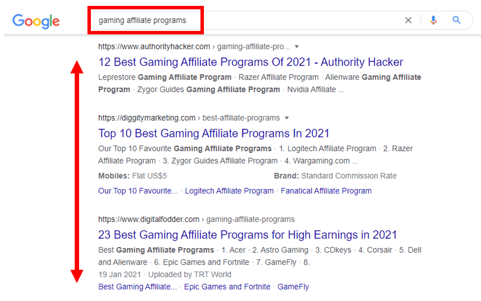 finding affiliate programs with google