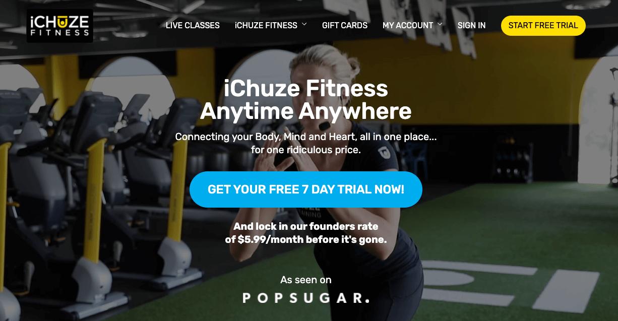 ichuze fitness 7 day trial