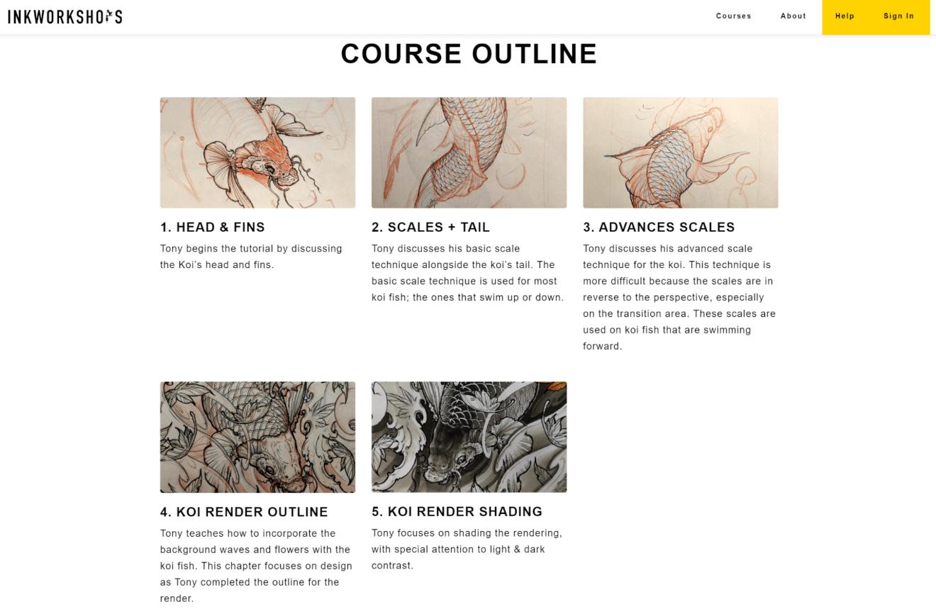 inkworkshops course outline