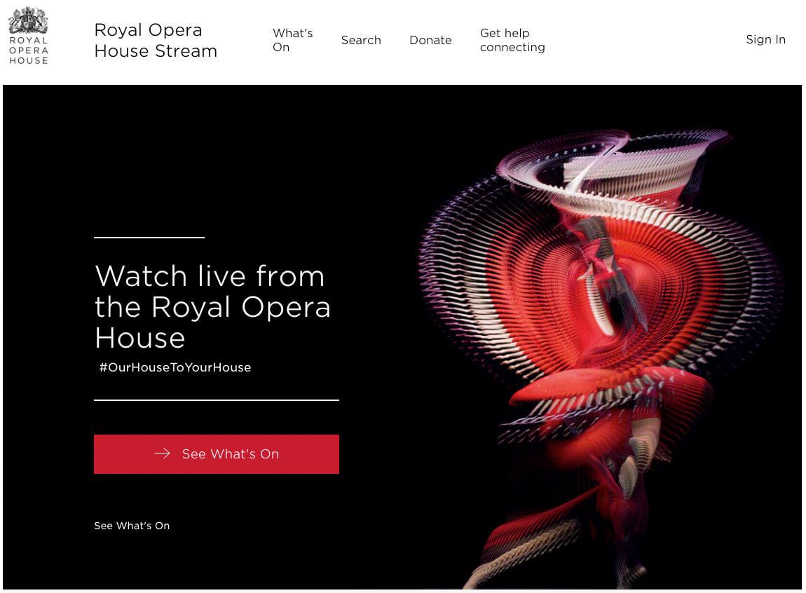 royal opera house tagline