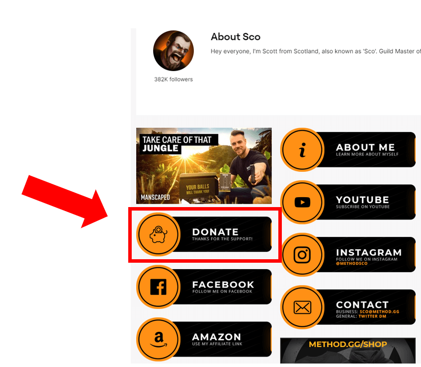 sco donation feature example