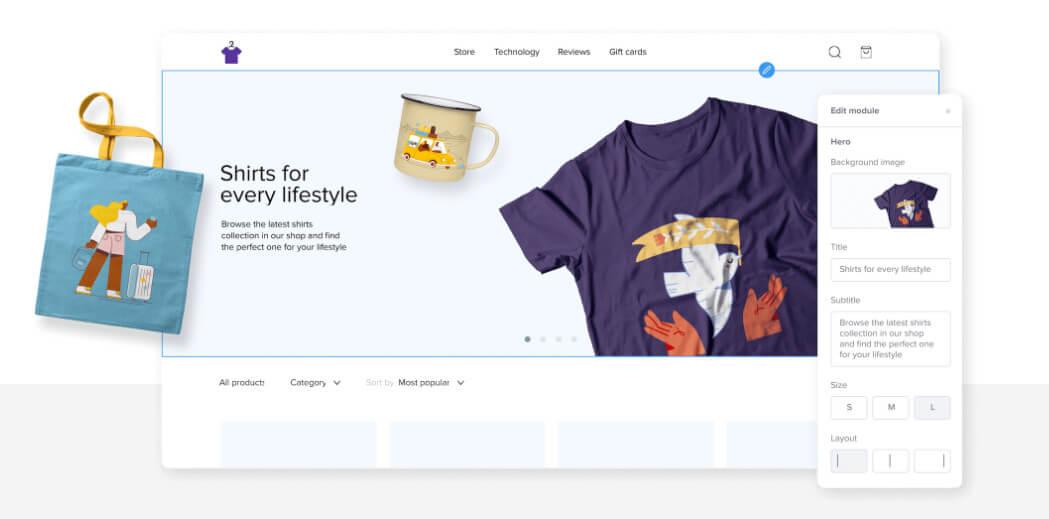 sellfy merchandising service
