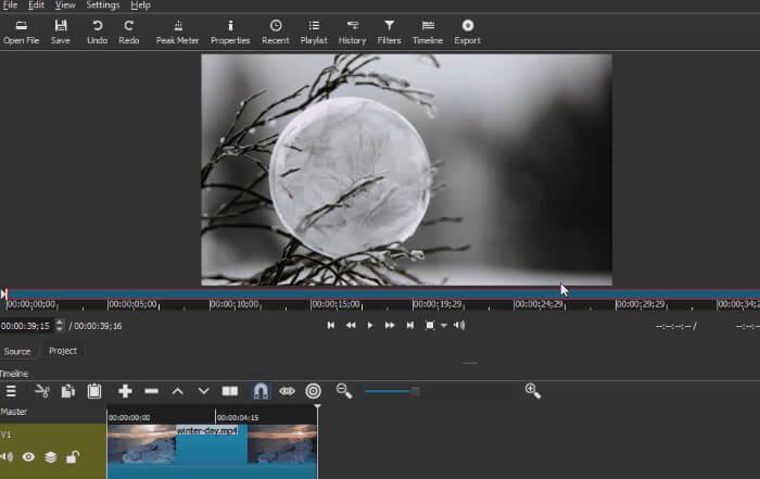 shotcut add a video