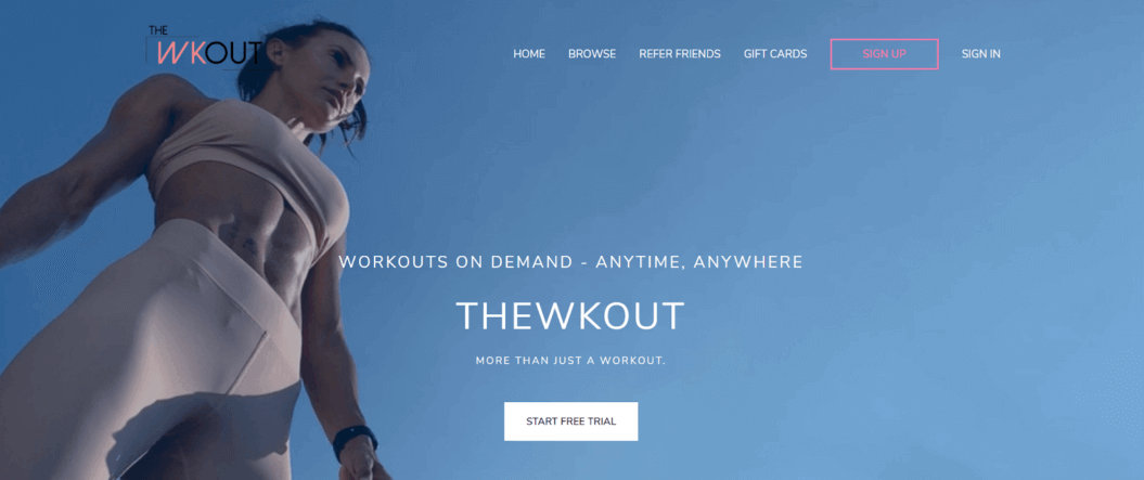 the wkout workouts on demand