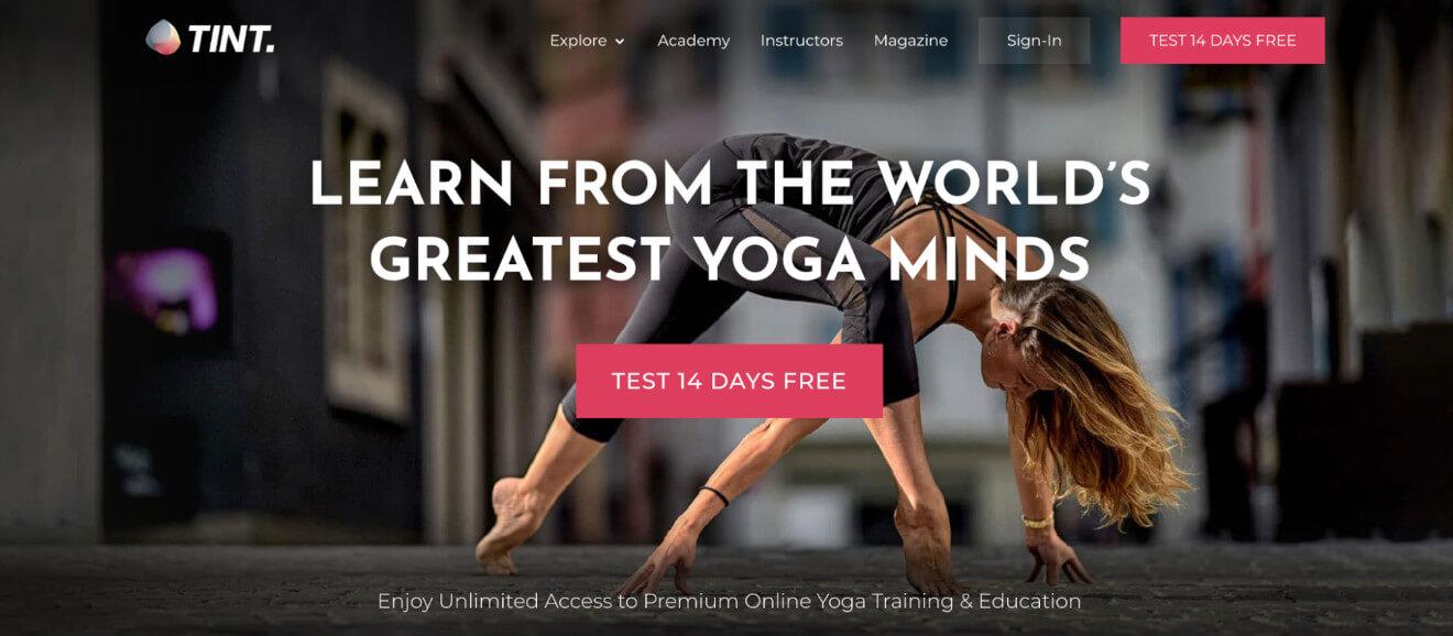 tint yoga sales page