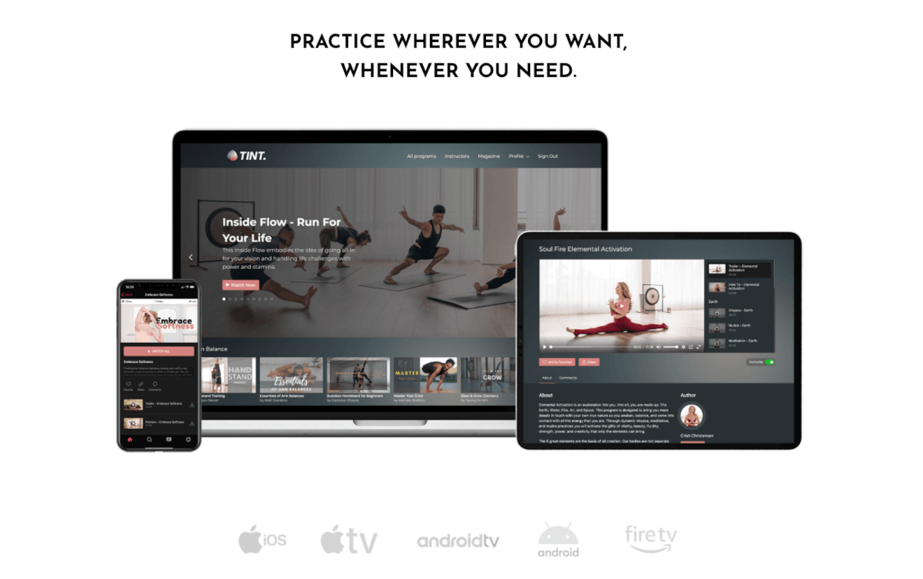 tint yoga multiplatform streaming