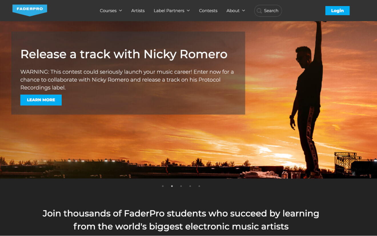 faderpro online courses platform