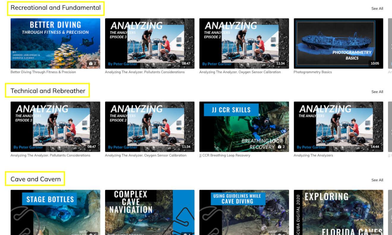GueTV diving video tutorials