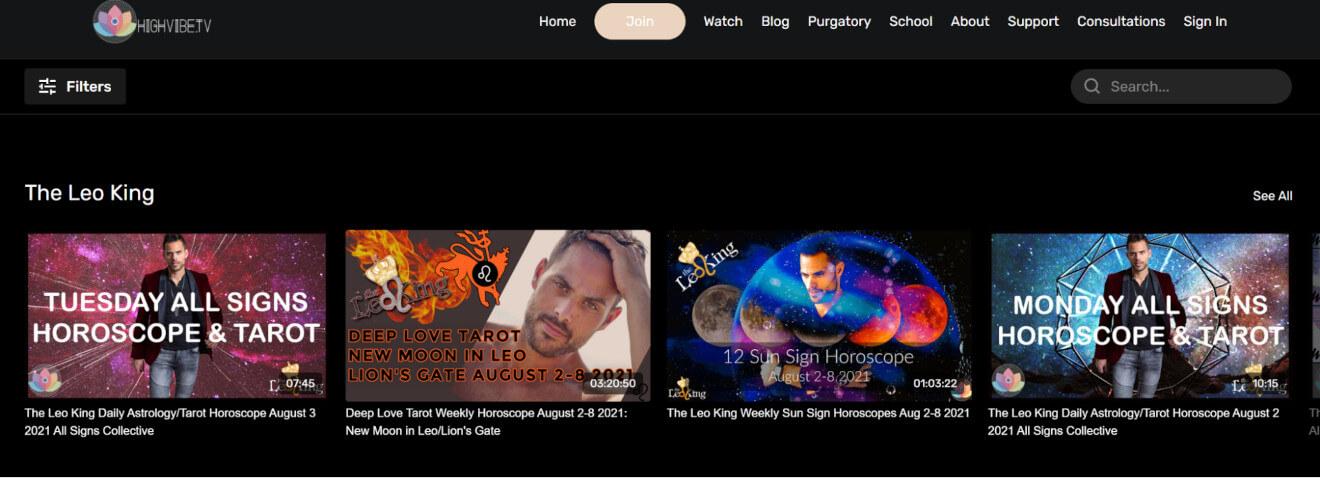 high vibe tv livestream service