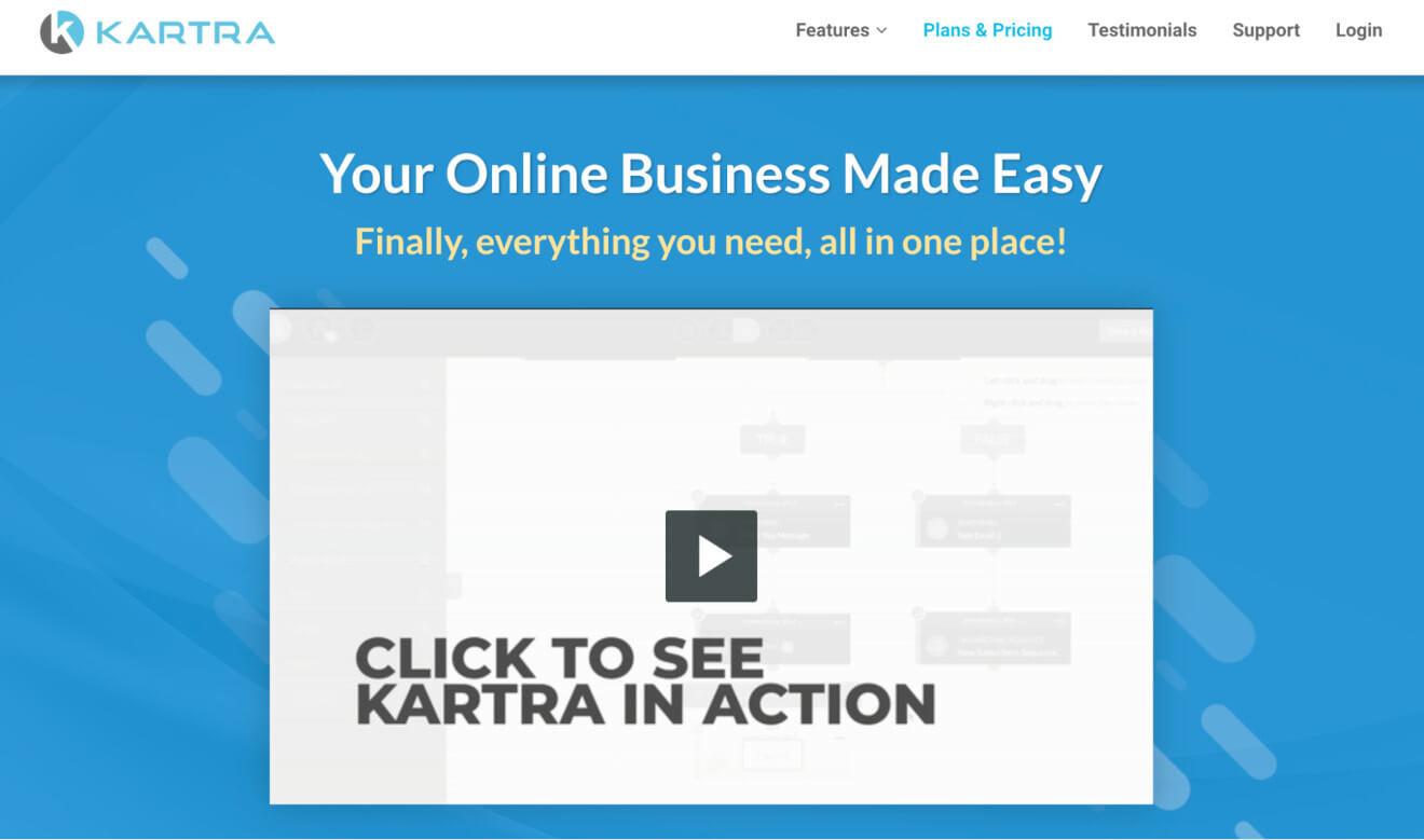 kartra cms for online business