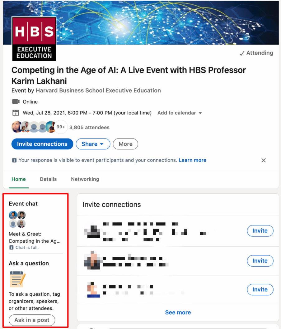 linkedin live chat