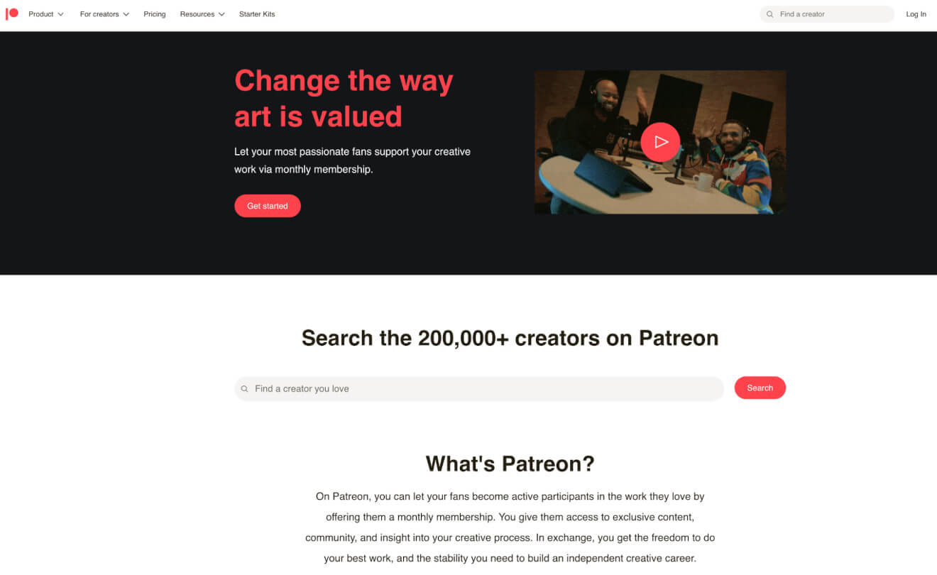patreon monetization platform