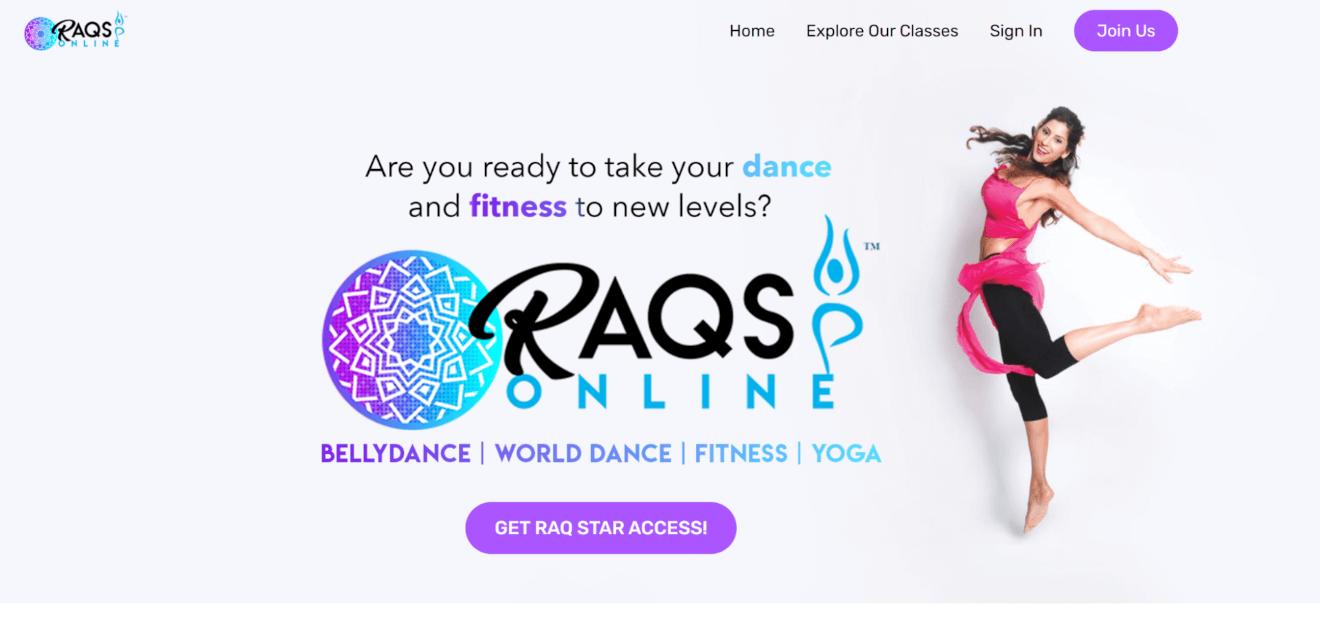 raqs online bellydance vod
