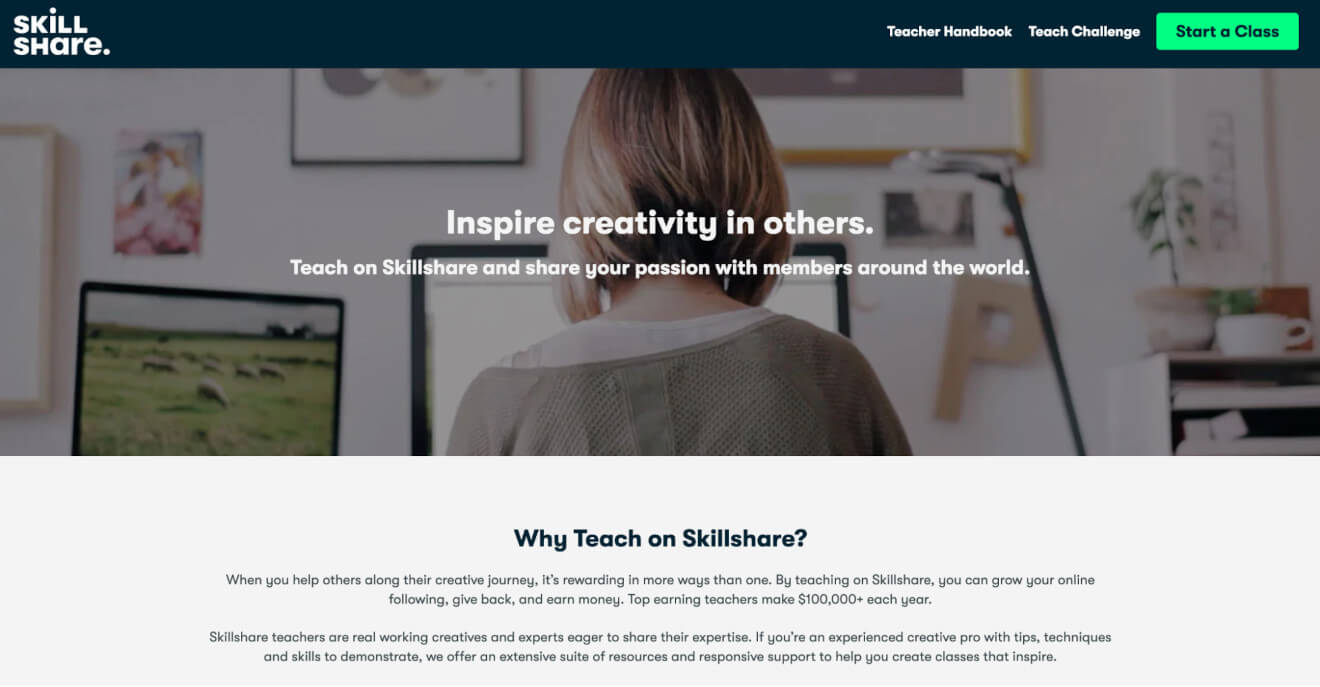 skillshare teaching platform