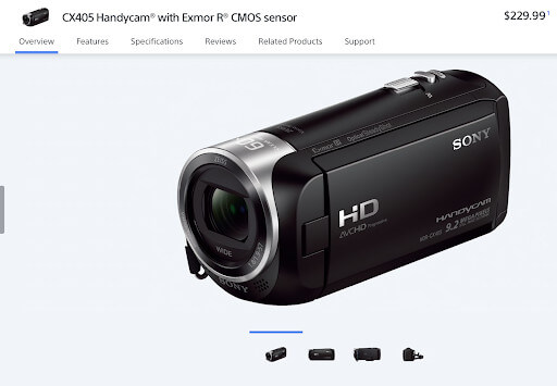Sony Handycam CX405 for content creators