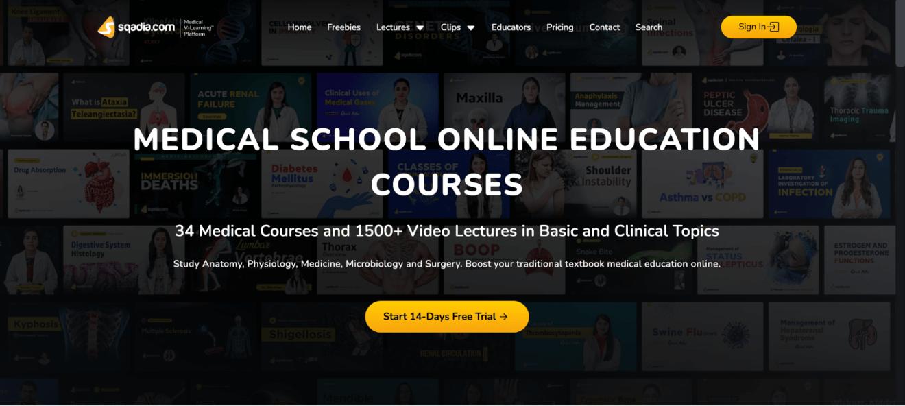 sqadia medical school online
