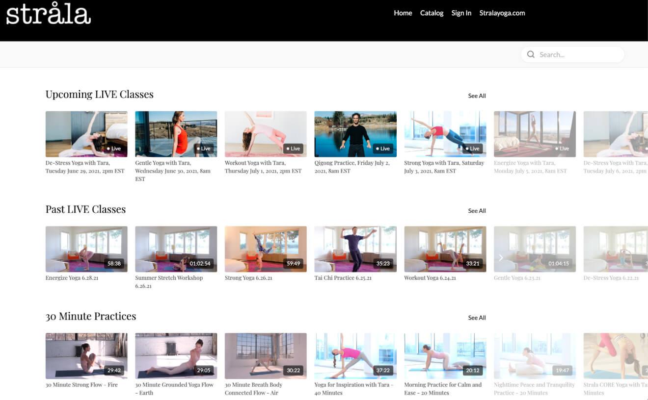 strala new uscreen website