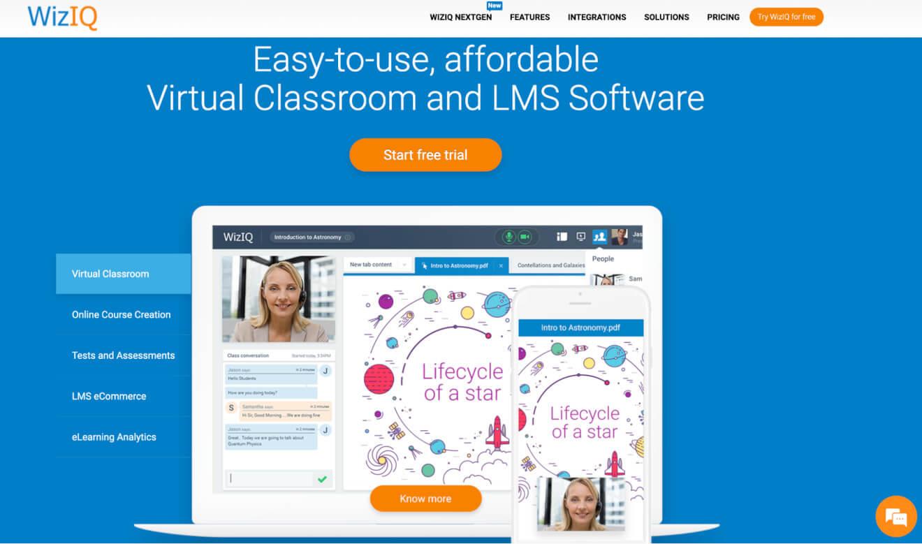 WizIQ LMS Software