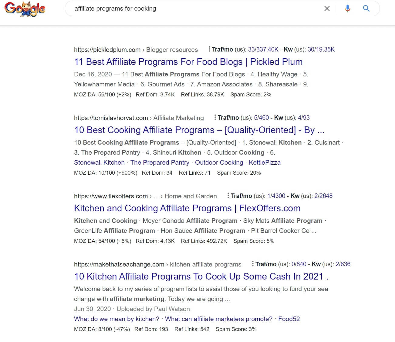 affiliate programs search