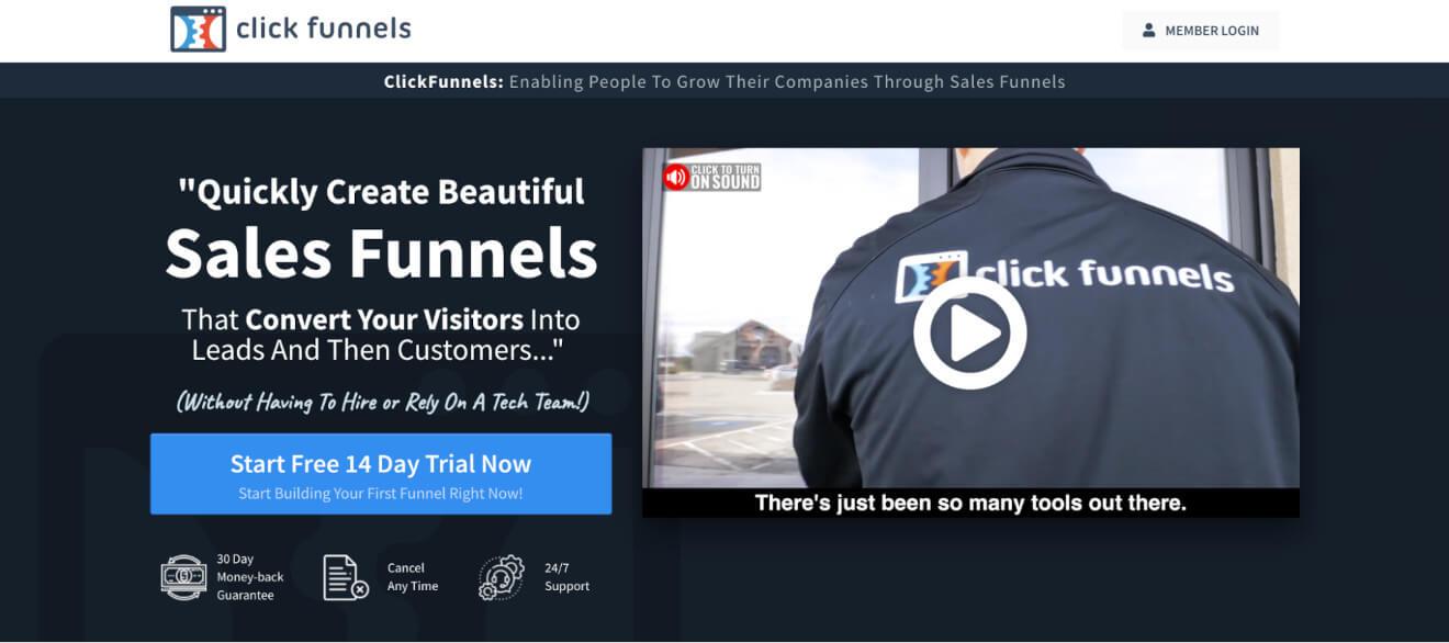 Click Funnels Marketing Platform