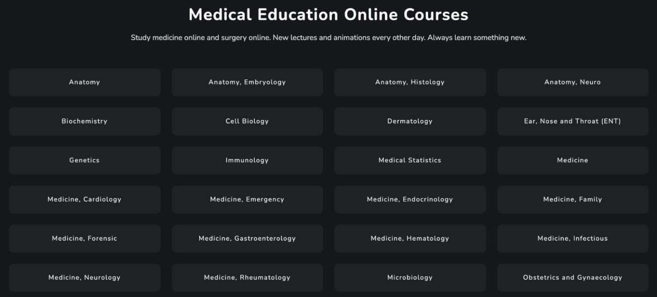 Sqadia Course Categories