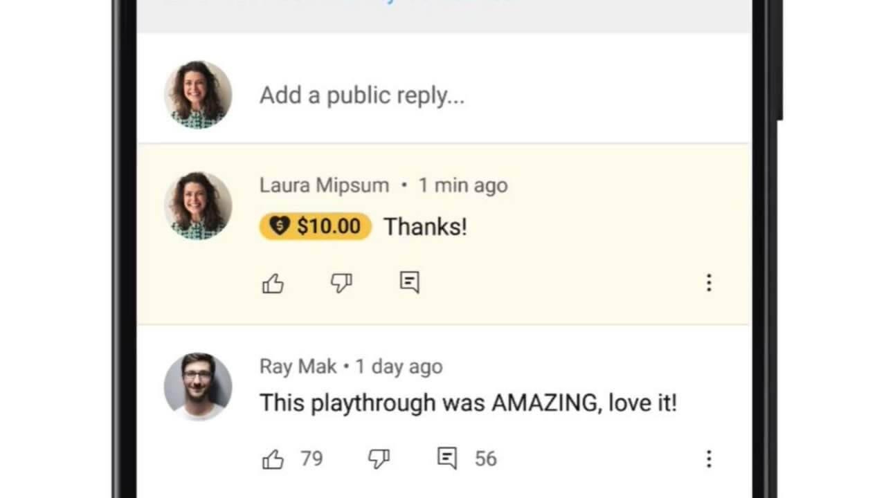 super thanks youtube paid digital goods