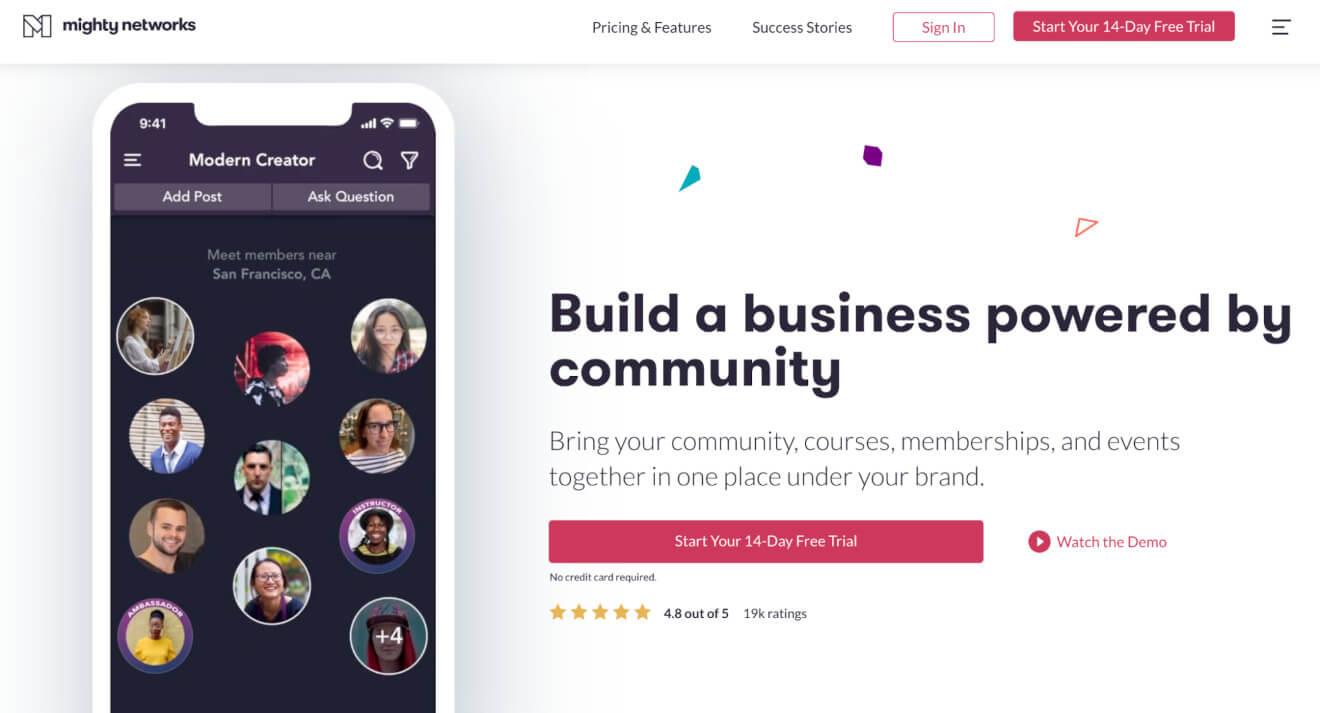 mighty networks membership platform