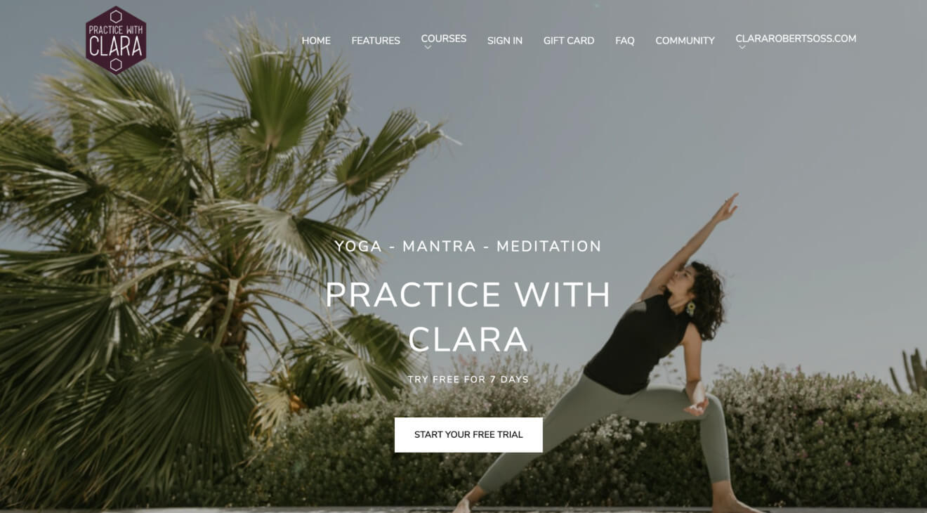 practice with clara landing page